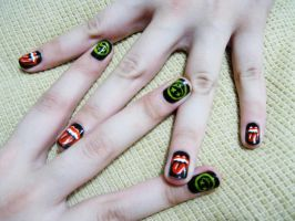 Classic Rock NailArt by natsy-alencar