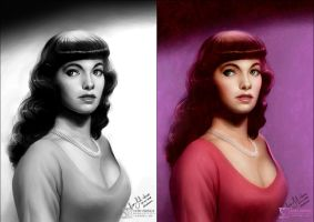 Bettie Page by daekazu