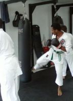 Me doing a gedan mawashi geri by Courvousier