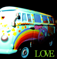 the peace and love truck. by psychedelicPHANTOMS