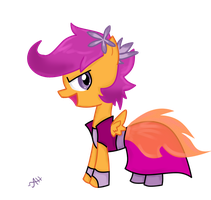 Scootaloo ready for the Gala by AnneHairball