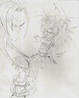 Symphony SSJ2 and SSJ3 sketch by DavidsKovach