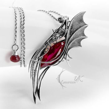 LYXHTRAL - silver and red quartz. by LUNARIEEN