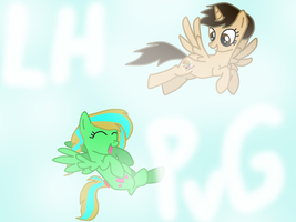 Best Friends Forever Flying Together! by PaintbrushPonyArtist