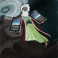 04-02-10 Moses with the iPad by mongreldesigns