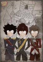 three musketeers by veniafefira