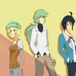 Cheren, N, and Bianca by Reaper145