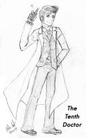 The Tenth Doctor -Sketch- by karlarei2003