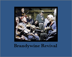Brandywine Revival in blue -  prints available by PlayfulArt