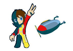 Alex Kidd Sonic Riders Style by THEChazzPrince