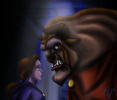 Beauty and the beast by JR-Julia
