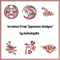 """Japanese Designs"" brushes by butnotquite"