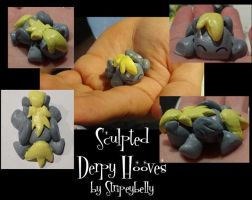 Sculpted sleeping Derpy by stripeybelly