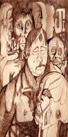 Faces Sketch 1972 by mr-macd