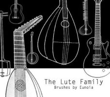 Brushes - The Lute Family by eunoiastock