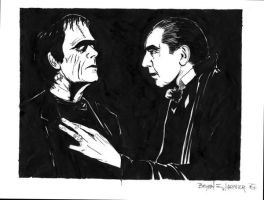 Dracula and his right hand man by NickDean