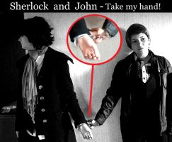 Sherlock and John - take my hand_2 by XxGogetaCatxX