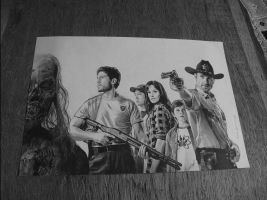 photo du dessin Walking dead by SamAnimeMangaFR