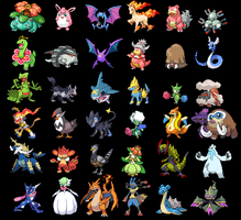 All of my teams by waterpoke