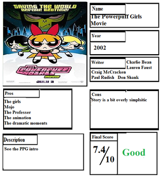 Pros and Cons: The PowerPuff Girls Movie by Spongey444