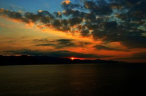 Sunrise over the Ligurian by PomPrint
