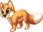 chibi fox by Cocotato