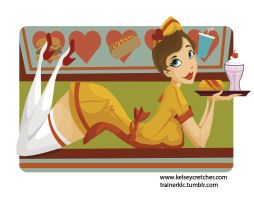 6 of Hearts- Fast Food by KCretcher