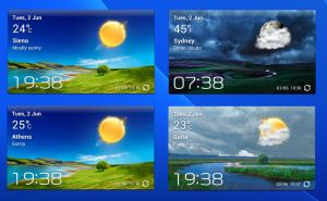 Accuweather S Widget v3 for xwidget by jimking
