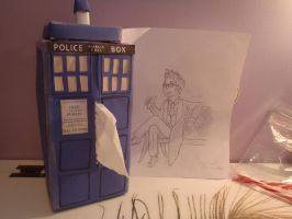 TARDIS tissue box by Endeavor4ever