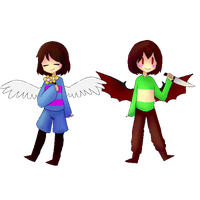 Frisk and Chara Animation by shukute