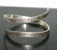 Forged wrap-around cuff by artsyjana