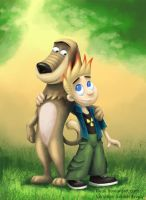 Dukey and Johnny Test by Kivuli by TahvoDerWeisseWolf