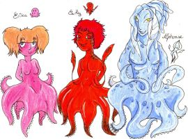 Children with tentacles by Clytemnon