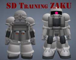 SD Training Zaku by lordvipes