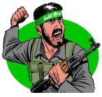 Hamas fighter by Latuff2