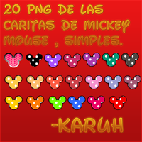 Pack PNG De caritas de mickey mouse simple by Karuhchitta