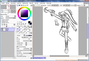 DU All-Stars SchoolGirl WIP by CrystalViolet500