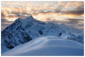 Sunrise on the Kulshan Ridge by Raymaker