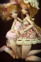 One of a kind Porcelain BJD dolls , Chi and Meek by FHdolls
