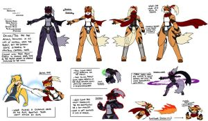 ReBurst R4 Ref - Shadow Growlithe by tazsaints