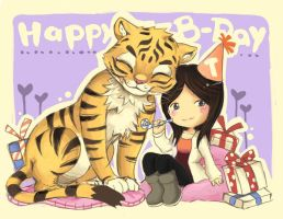 B-day with a tiger by Watteri91