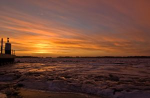 Sunset Elbe by sandor99