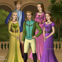 Sofia's royal family games of throne by unicornsmile