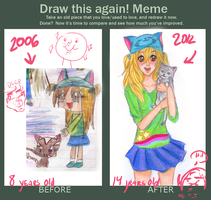 draw this again meme by helplessdancer