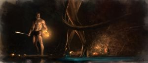 Beowulf and Grendel's mother by Signore-delle-Ombre