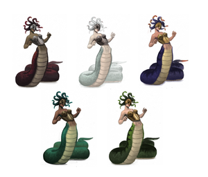 Medusa color variations
