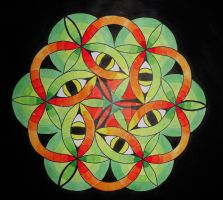 Green eye mandala by mariquack