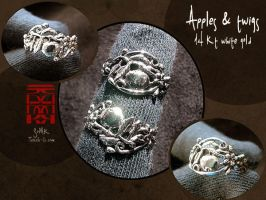 """Apples and twigs"" ring by somk"