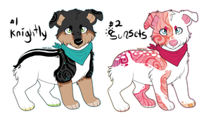 -+ Two Cute doggies Auction +- by BleedingColorAdopts