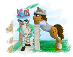 John-neigh Fedora And Alice Blue-Poll-et by Chickenwhite